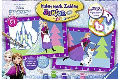 Ravensburger 27771 Disney Frozen Die Eiskoenigin Malen nach 500x330 - Ravensburger 27771 - Disney Frozen Die Eiskönigin - Malen nach Zahlen Junior
