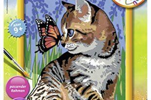 Ravensburger 28651 - Katze mit Schmetterling - Malen nach Zahlen