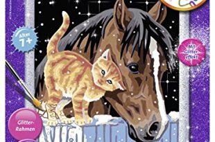 Ravensburger Malen nach Zahlen 28556 - Fohlen mit Kätzchen, Malset
